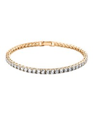 Crislu Classic Brilliant Tennis Bracelet Rose Gold