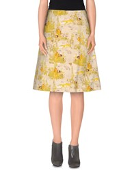 Douuod Skirts Knee Length Skirts Women Yellow