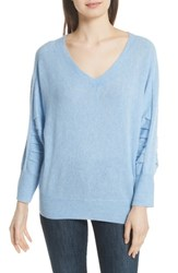 Brochu Walker Weller Cashmere Sweater Air Blue Melange