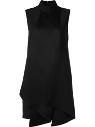 Victoria Beckham Oversized Sleeveless Dress Black