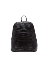 Nancy Gonzalez Crocodile Backpack In Black Animal Print