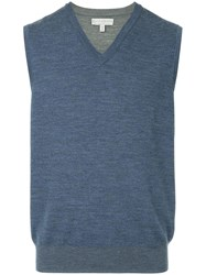 Gieves And Hawkes Sleeveless Sweater Blue
