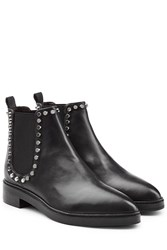 Steffen Schraut Leather Chelsea Boots With Studded Trim Black