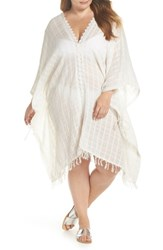 Muche Et Muchette Plus Size Serendipity Cover Up Tunic White Silver