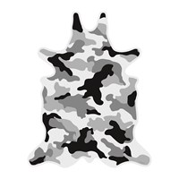 Podevache Camouflage Collection Vinyl Floor Mat Grey