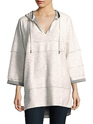 Rag And Bone Cotton Long Sleeve Hoodie Oatmeal