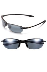 Maui Jim Women's 'Makaha' 64Mm Reading Sunglasses Gloss Black