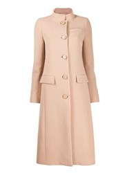 Givenchy Classic Button Up Coat Neutrals