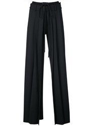 Vera Wang Pleated Front Tailored Trousers Black