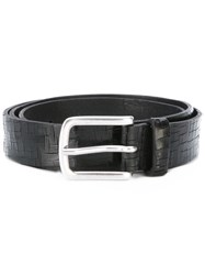 Orciani Embossed Details Belt Men Leather 110 Black