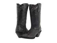 Durango Crush 12 Embroidered Toe Black Cowboy Boots