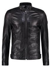 Joop Peel Leather Jacket Black