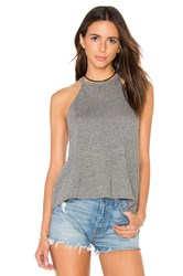 Michael Lauren Cactus Cropped Tank Gray