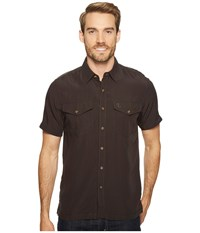 Fjall Raven Abisko Vent Shirt S S Dark Grey Men's Short Sleeve Button Up Gray