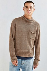 Urban Outfitters Uo Modern Turtleneck Sweater Taupe