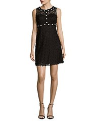 Taylor Embroidered Lace Dress Black Ivory