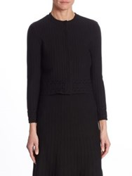 Ralph Lauren Ribbed Wool Cardigan Black