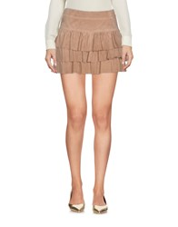 Flavio Castellani Mini Skirts Khaki