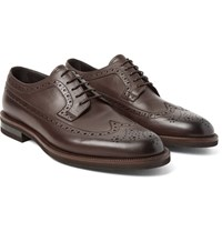 Ermenegildo Zegna Flex Leather Longwing Brogues Brown