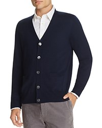 Brooks Brothers Saxxon Wool Cardigan Navy