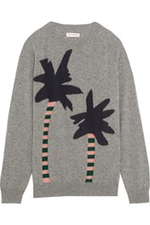 Chinti And Parker Intarsia Cashmere Sweater Gray