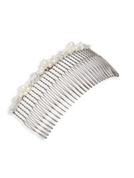 Colette Malouf Stromboli Fresh Water Pearls Large Wire Comb White