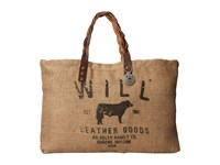 Will Leather Goods Coffee Sacks Tote Assorted Tote Handbags Multi