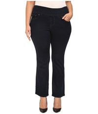 Jag Jeans Plus Size Petite Paley Pull On Boot In After Midnight Comfort Denim After Midnight Women's Black