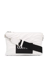 Versace Jeans Couture Quilted Logo Clutch Bag White