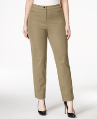 Charter Club Plus Size Ankle Length Trousers Only At Macy's Dusted Camel