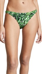 Milly St. Lucia Bikini Bottoms Emerald Multi