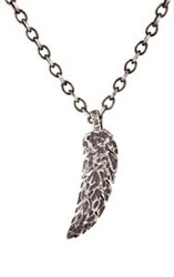 Feathered Soul Feather Pendant Necklace Silver