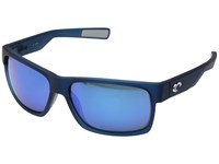 Costa Half Moon Bahama Blue Fade Blue Mirror 580G Athletic Performance Sport Sunglasses