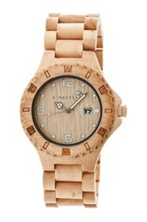 Earth Wood Unisex Raywood Watch Beige