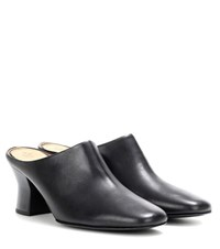 The Row Adela Leather Mules Black