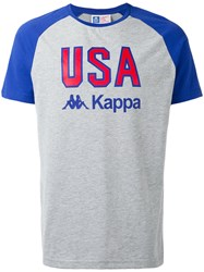 Kappa La Usa T Shirt Men Cotton L Grey