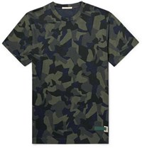 Nudie Jeans Daniel Camouflage Print Organic Cotton Jersey T Shirt Army Green