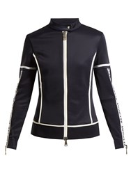 Moncler Maglia Jersey Stretch Track Top Navy