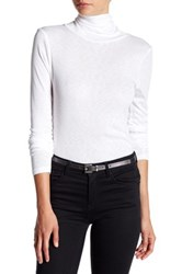 Michael Stars Solid Turtleneck Sweater White
