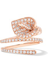 Anita Ko Calla Lily Coil 18 Karat Rose Gold Diamond Ring