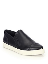 Vince Paeyre Leather Skate Sneakers Black