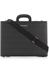 Dsquared2 Textured Briefcase Black