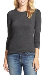 Halogenr Women's Halogen Long Sleeve Modal Blend Tee Heather Charcoal