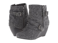 Blowfish Belen Grey Soft Herringbone Flannel Women's Zip Boots Gray