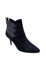 Adrienne Vittadini Sande Leather And Suede Ankle Boots Black