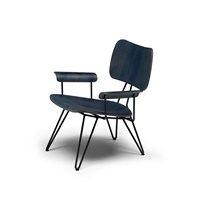 Diesel Living With Moroso Overdyed Lounge Chair Indigo Blue