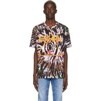 Dsquared2 Multicolor And Blue Tie Dye Logo T Shirt