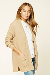 Forever 21 Button Front Ribbed Cardigan