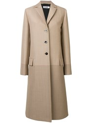 Jil Sander Fullerton Single Breasted Coat Neutrals