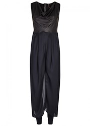 High Pierrot Navy Jersey Dress And Leggings